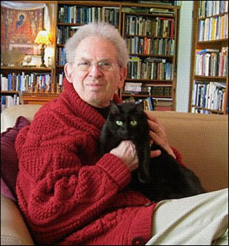 Russell Targ and the cat Onyx